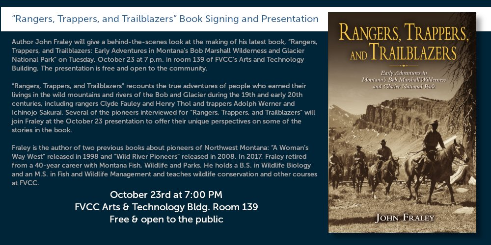 John Fraley Book Signing - October 23rd at 7pm in Arts and Technology Bldg Room 139