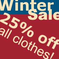25% off Winter Sale