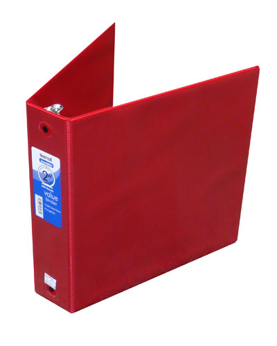 Red Insertable Binder 2""