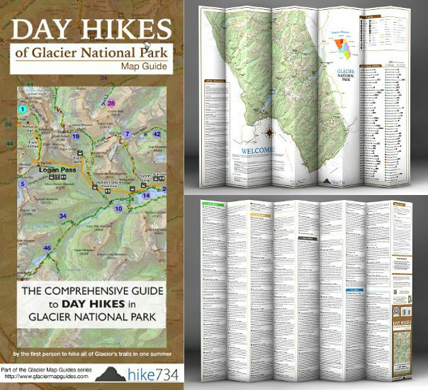 Day Hikes Of Glacier National Park Map Guide (SKU 1022464929)