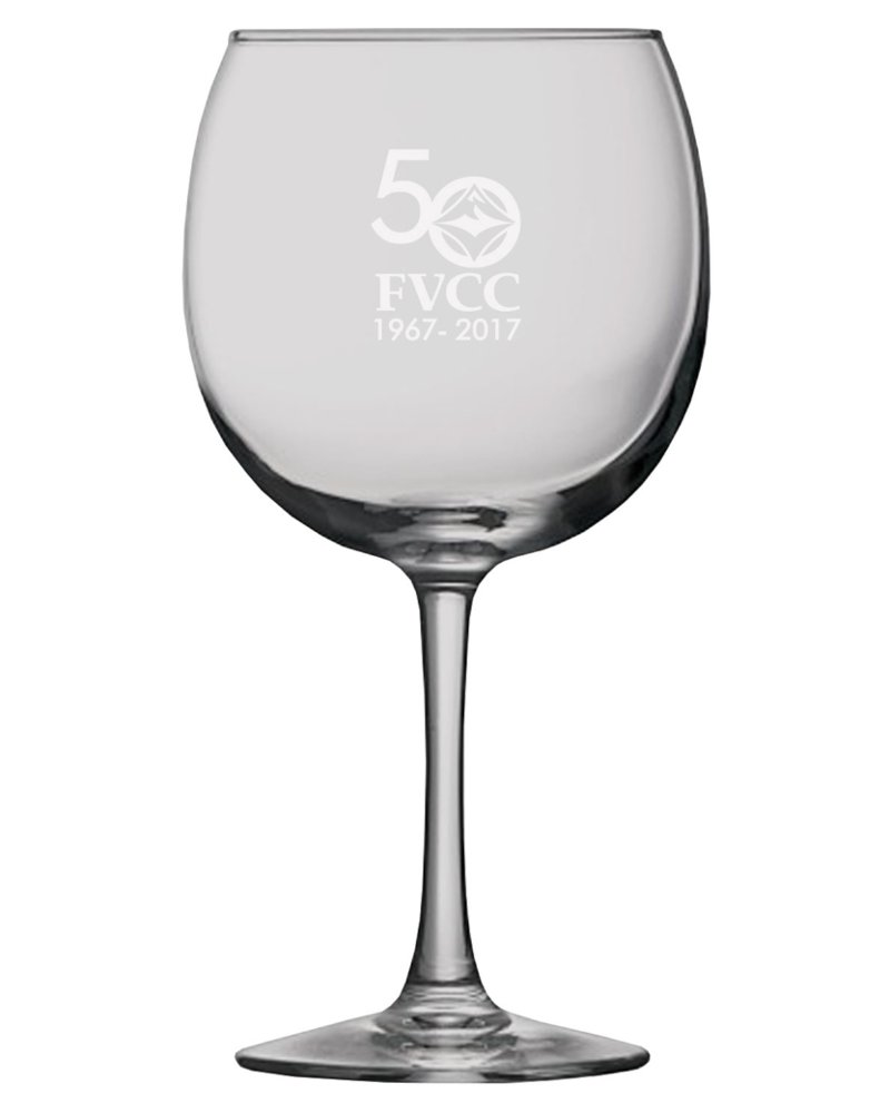 50Th Anniversary Red Wine Glass